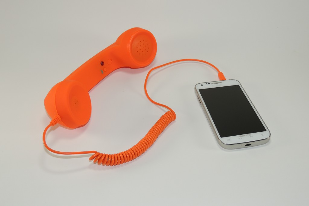 Retro Phone Handset from Exact Target