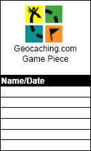 1.5 inch Refill Geocaching Log Sheet with color logo