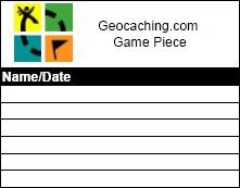 2.5 inch Refill Geocaching Log Sheet with color logo